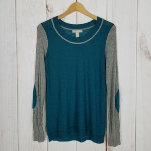 Banana Republic | Teal Gray Italian Yarn Sweater
